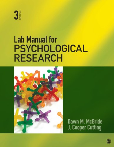 Lab Manual for Psychological Research 9781412999328