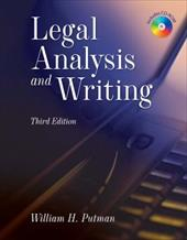 Legal Analysis and Writing [With CDROM] 6278936