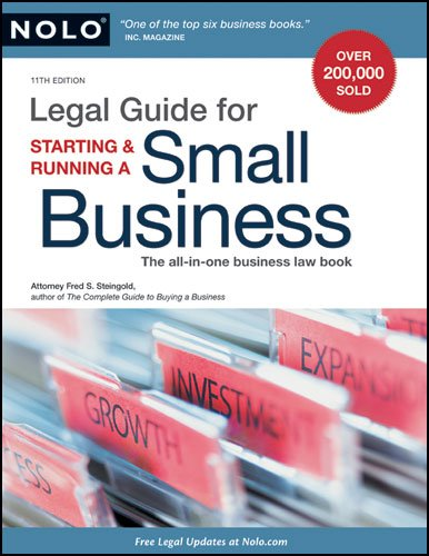 Legal Guide for Starting & Running a Small Business 9781413310559