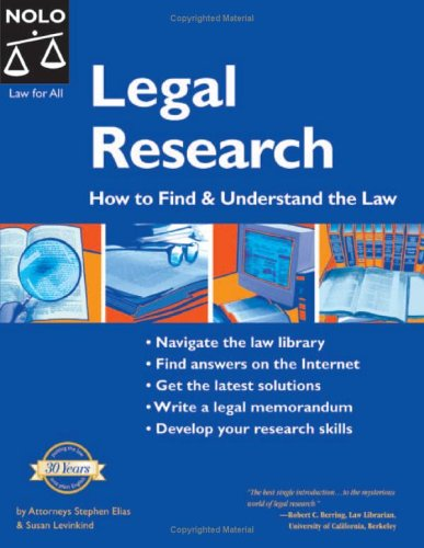 Legal Research: How to Find and Understand the Law 9781413303957