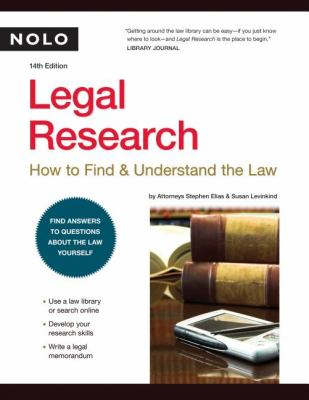 Legal Research: How to Find & Understand the Law 9781413306934