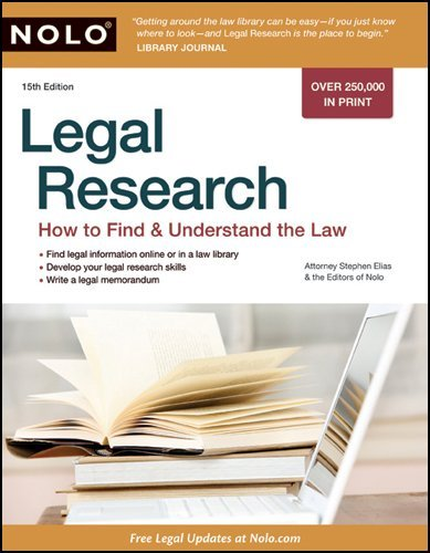 Legal Research: How to Find & Understand the Law 9781413310528