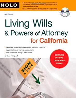Living Wills & Powers of Attorney for California [With CDROM] 9781413309577