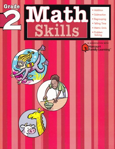 Math Skills: Grade 2 (Flash Kids Harcourt Family Learning) 9781411401075