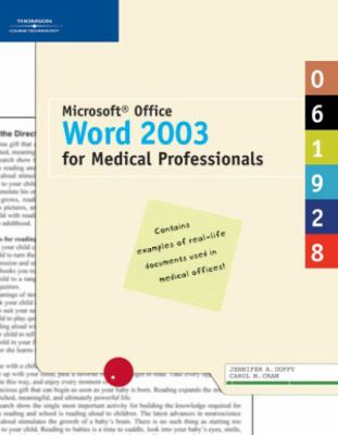 Microsoft Office Word 2003 for Medical Professionals 9781418843205