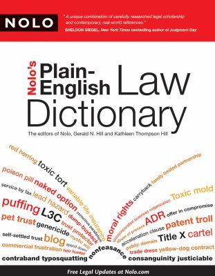 Nolo's Plain-English Law Dictionary 9781413310375
