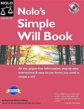 Nolo's Simple Will Book [With CDROM] 9781413303605