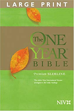 One Year Premium Slimline Bible-NIV-Large Print 9781414314150