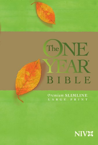 One Year Premium Slimline Bible-NIV-Large Print 9781414314167