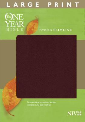 One Year Premium Slimline Bible-NIV-Large Print 9781414314174