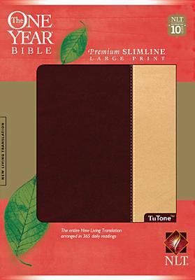 One Year Premium Slimline Bible-NLT-Large Print 10th Anniversary 9781414312477