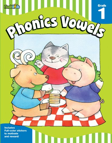 Phonics Vowels, Grade 1 9781411434455