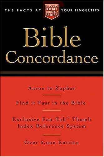 Pocket Bible Concordance: Nelson's Pocket Reference Series 9781418500177