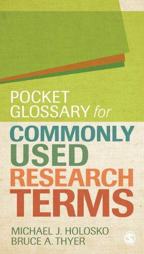 Pocket Glossary for Commonly Used Research Terms 9781412995139