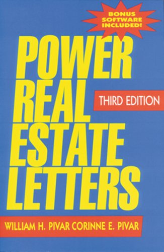 Power Real Estate Letters: Letters, E-Mails, and More to Meet All Business Needs [With CDROM] 9781419504730
