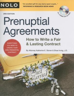 Prenuptial Agreements: How to Write a Fair and Lasting Contract [With CDROM] 9781413307153