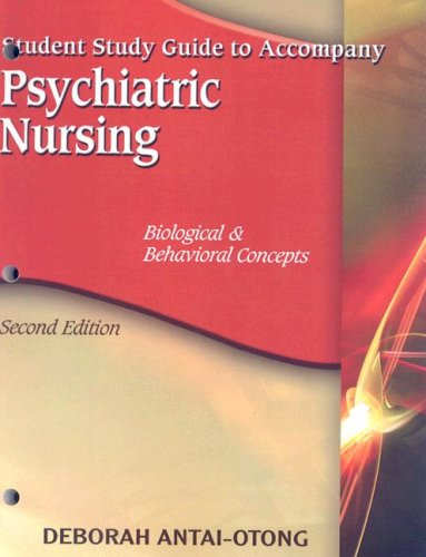 Psychiatric Nursing: Biological & Behavioral Concepts 9781418038755