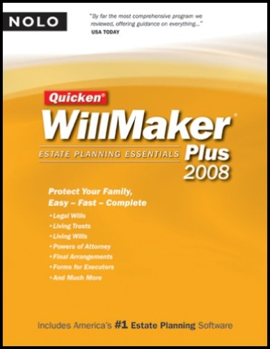 Quicken Willmaker Plus: Estate Planning Essentials [With CDROM] 9781413307160