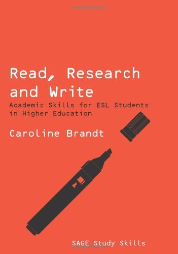 Read, Research and Write: Academic Skills for ESL Students in Higher Education 9781412947374