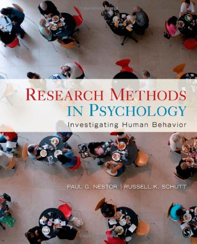 Research Methods in Psychology: Investigating Human Behavior 9781412960496