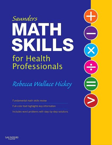Saunders Math Skills for Health Professionals 9781416047551
