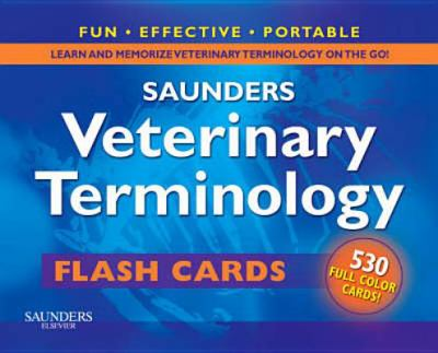 Saunders Veterinary Terminology Flash Cards 9781416061380