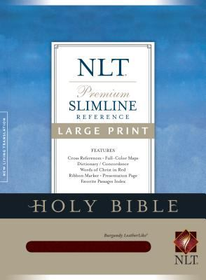 Slimline Reference Bible-NLT-Large Print [With Ilumina Software] 9781414302270