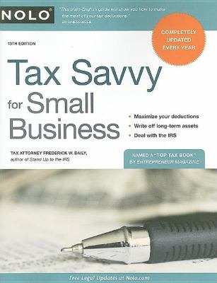 Tax Savvy for Small Business 9781413310641