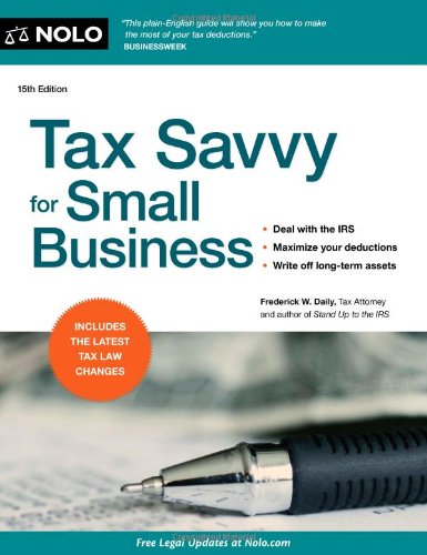 Tax Savvy for Small Business 9781413316407