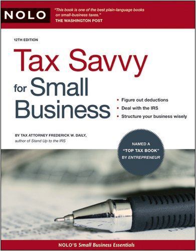 Tax Savvy for Small Business 9781413309034