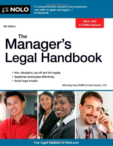 The Manager's Legal Handbook 9781413316384