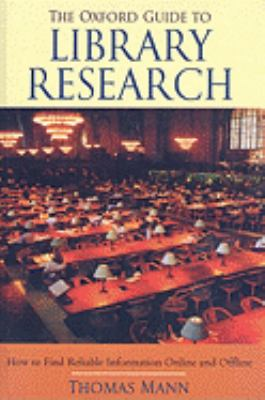 The Oxford Guide to Library Research 9781417679317