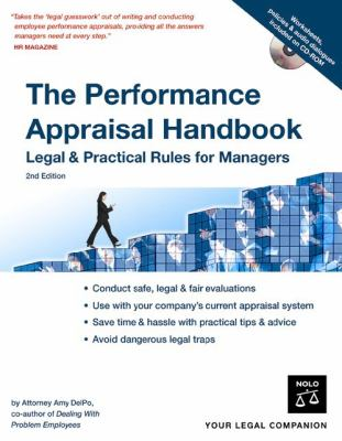 The Performance Appraisal Handbook: Legal & Practical Rules for Managers [With CDROM] 9781413305678