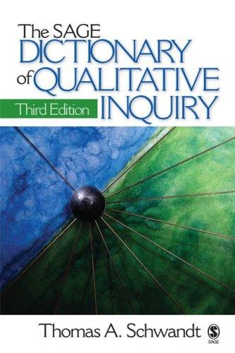 The Sage Dictionary of Qualitative Inquiry 9781412909273