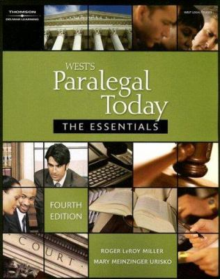 West's Paralegal Today: The Essentials 9781418050320