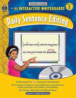 Interactive Learning: Daily Sentence Editing, Grade 5 [With CDROM] 9781420638875