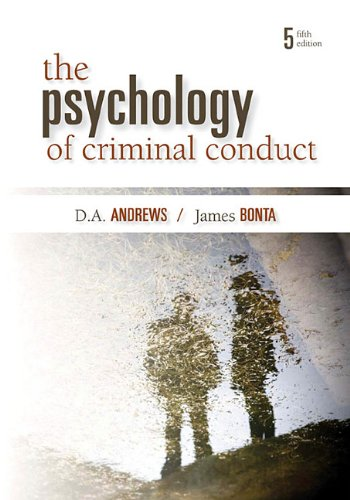 The Psychology of Criminal Conduct 9781422463291