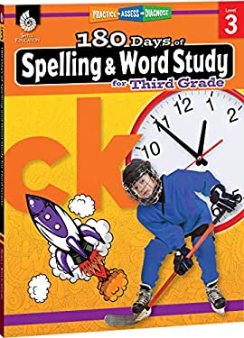 180 Days of Spelling and Word Study for 3rd Grade - Third Grade Spelling Workbook for Kids Ages 7-9, Improves Spelling Skills with Fun Spelling Games