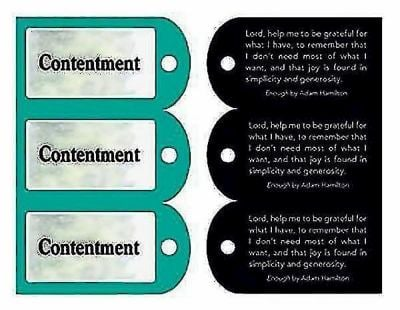 Contentment Key Tags, Package of 90 9781426706110