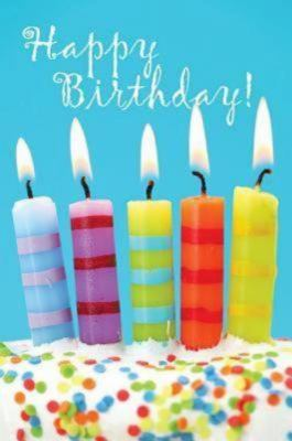 Happy Birthday 5 Candles Postcards, Package of 25