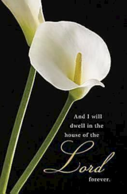 Funeral/Calla Lilies Bulletin