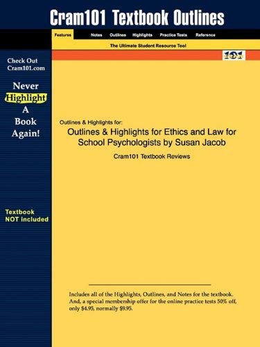 Outlines & Highlights for Ethics and Law for School Psychologists by Susan Jacob 9781428847057