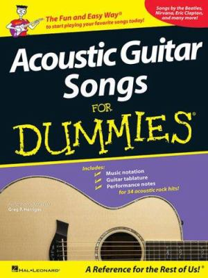 Acoustic Guitar Songs for Dummies 9781423407775