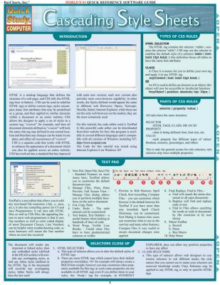 Cascading Style Sheets Laminated Reference Chart 9781423201762