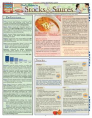 Chef's Guide to Stocks & Sauces Laminated Reference Charts 9781423202271