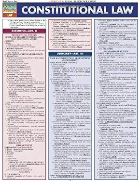 Constitutional Law Legal Reference Chart 9781423208822