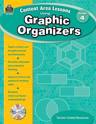 Content Area Lessons Using Graphic Organizers, Grade 4 [With CDROM] 9781420680942