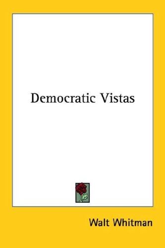 Democratic Vistas 9781428626355