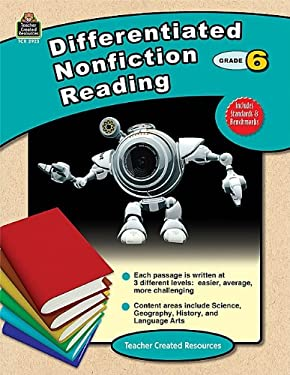 Differentiated Nonfiction Reading, Grade 6 9781420629231