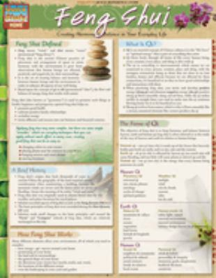 Feng Shui Laminated Reference Charts